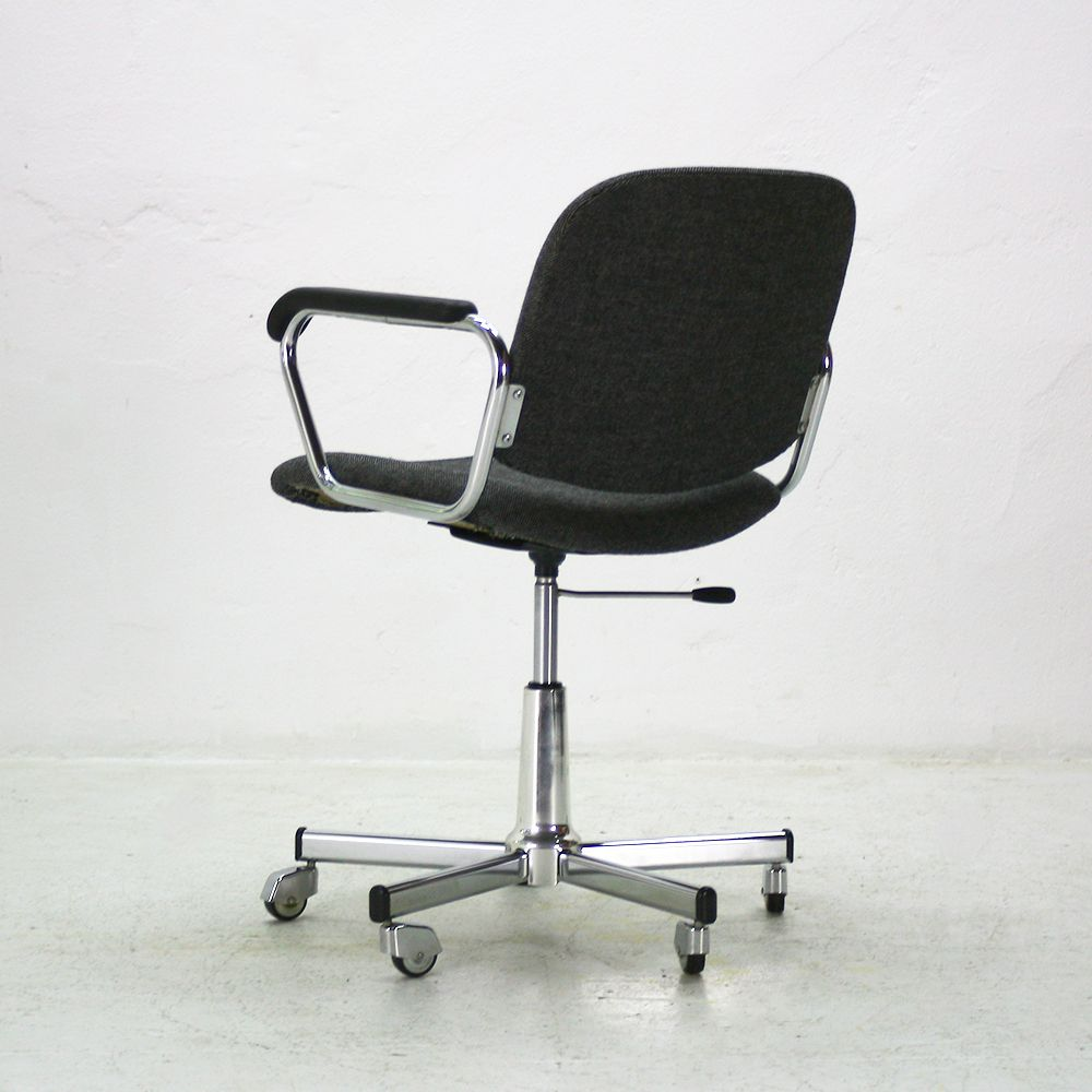 Height Adjustable Office Chair With Armrests 1960s For Sale At Pamono