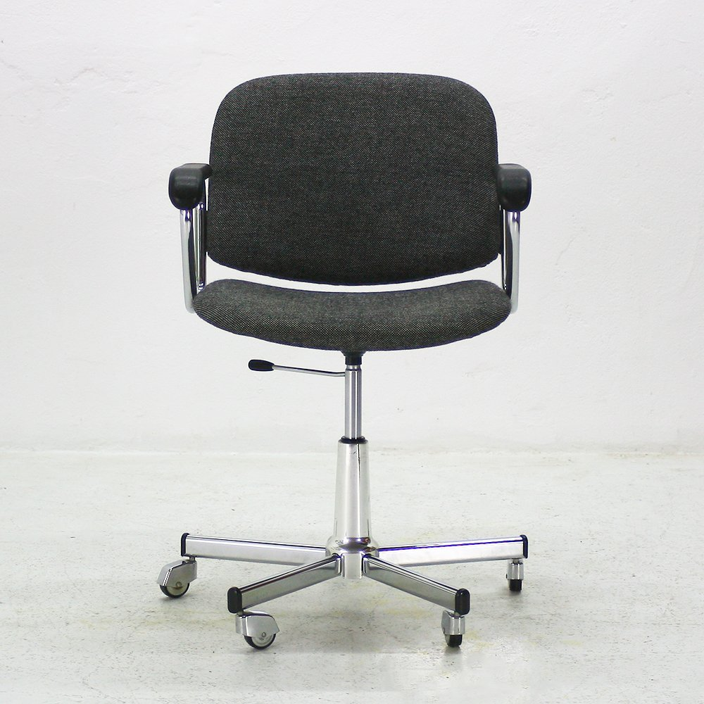 Height Adjustable Office Chair With Armrests 1960s For