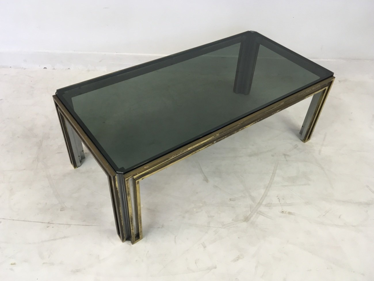 Vintage italian brass and chrome coffee table for sale at pamono geotapseo Images