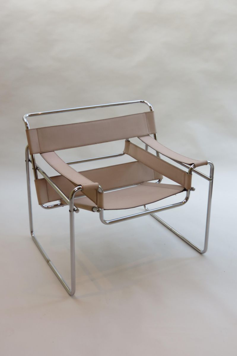 vintage wassily chair by marcel breuer for gavina 1960s for sale at pamono. Black Bedroom Furniture Sets. Home Design Ideas