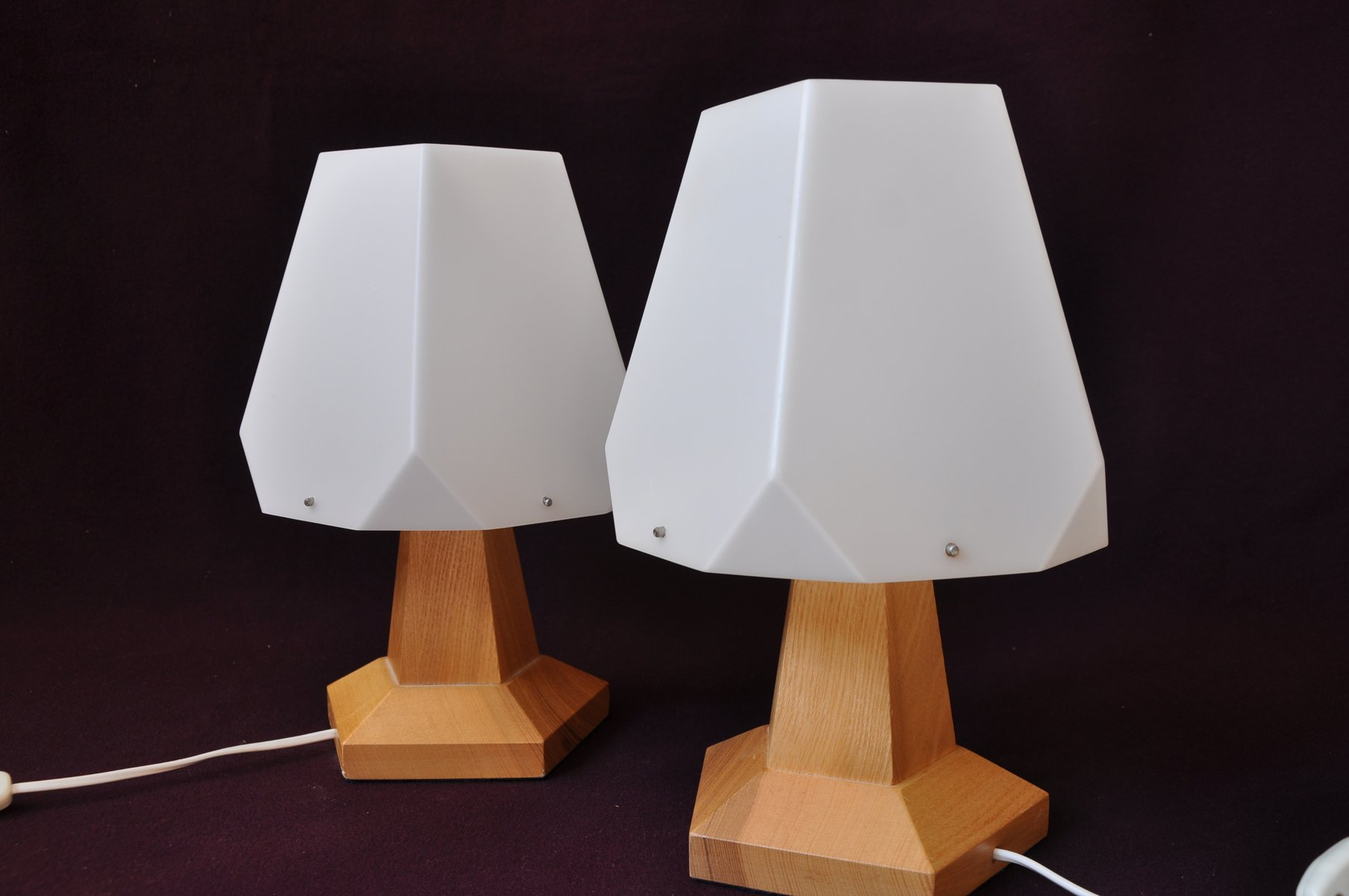 Vintage swiss bedside lamps by rudolf d rfler 1960s set for Nachttischlampe vintage