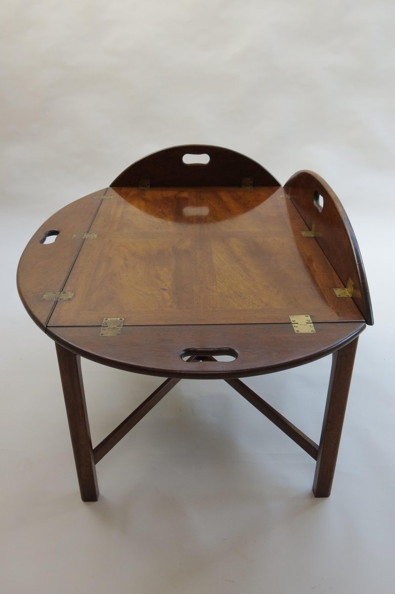 Englischer Mahagoni Butler Tablett Couchtisch, 1960er bei