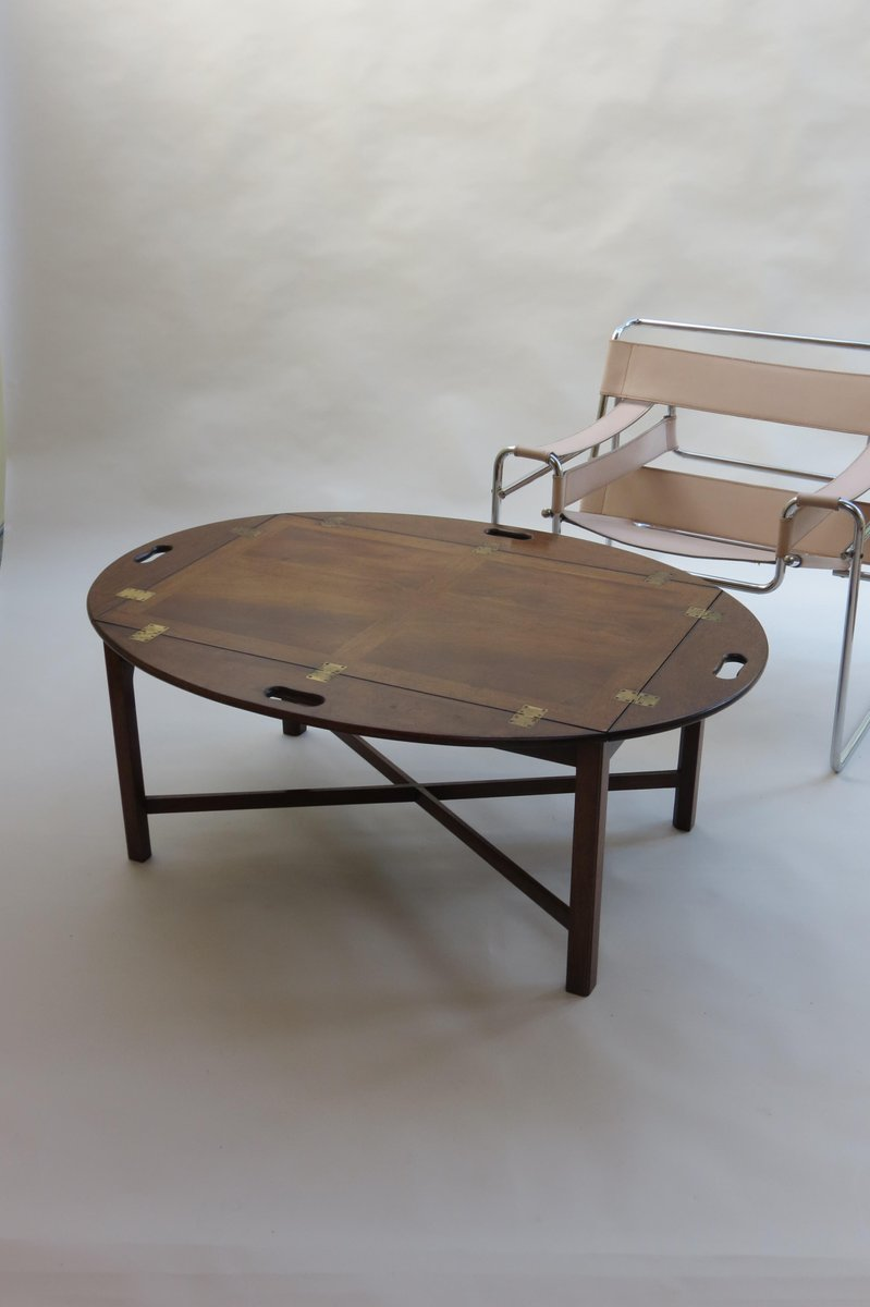 English Mahogany Butlers Tray Coffee Table 1960s For Sale At Pamono
