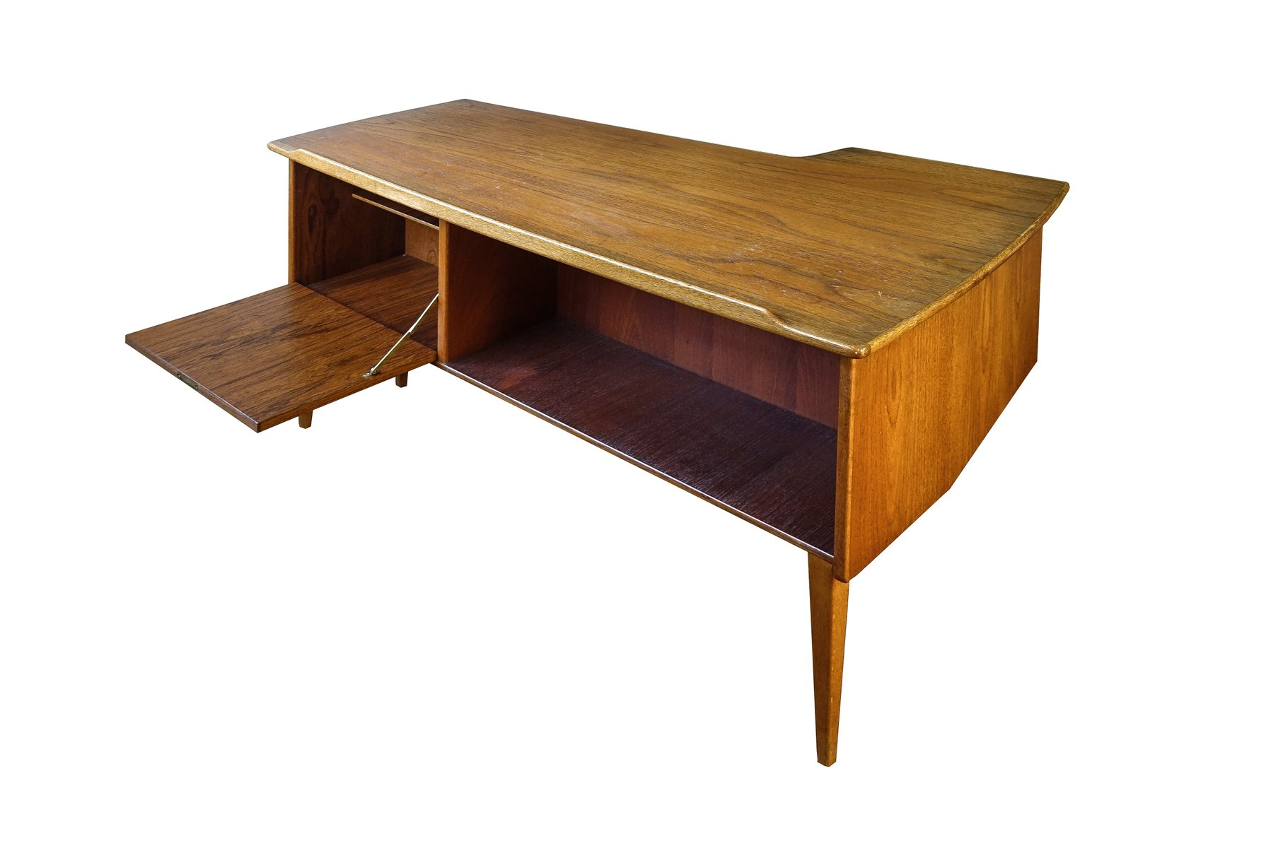 Mid Century Modern Boomerang Desk by Peter Nielsen for Hedenstedt