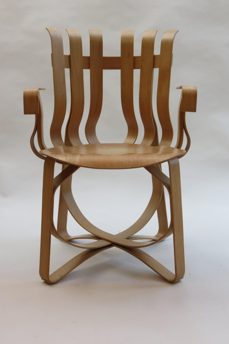 70s chairs is frank o gehry s cardboard chair wiggle side chair - First Edition Hat Trick Chairs By Frank Gehry For Knoll Usa 1992 Set Of 4