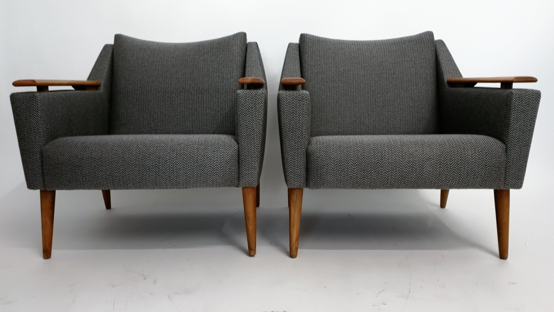 sessel mit fischgr tmuster von knoll 1950er bei pamono kaufen. Black Bedroom Furniture Sets. Home Design Ideas