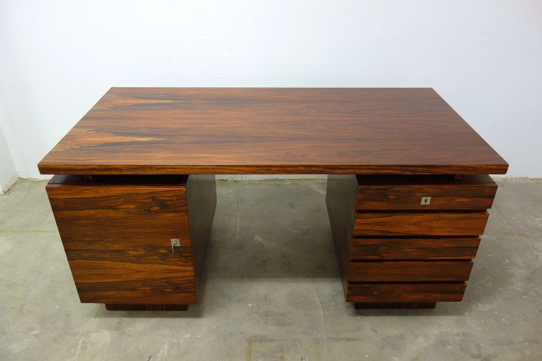 d nischer mid century palisander schreibtisch 1960er bei. Black Bedroom Furniture Sets. Home Design Ideas