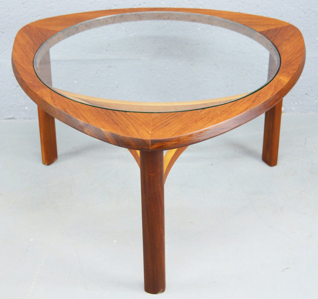 Mid Century Teak And Glass Coffee Table From Nathan For Sale At Pamono