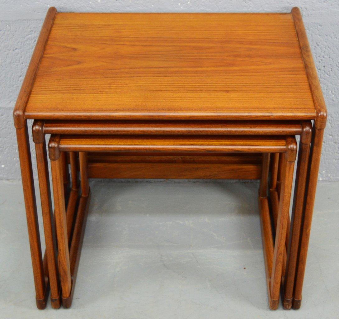 Beautiful Set Of Tables Part - 6: Mid-Century Danish Teak Nest Of Tables, Set Of 3