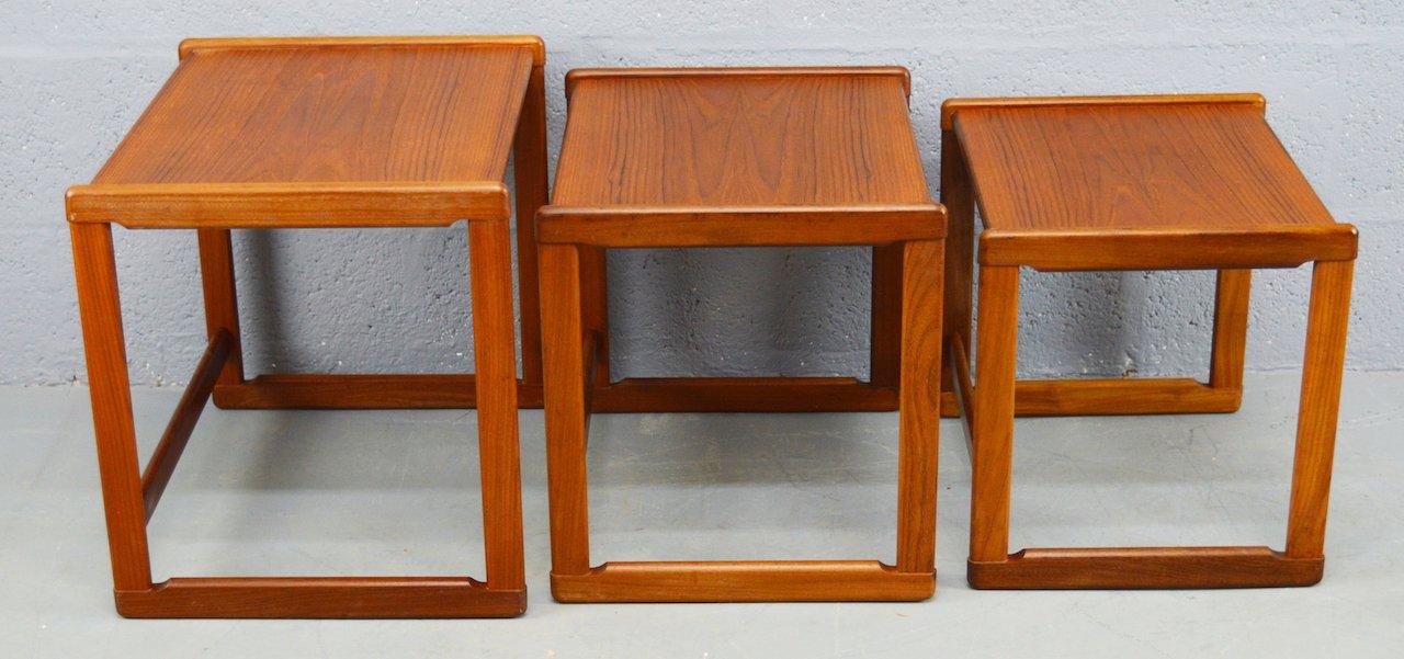 Set Of Tables Part - 17: Mid-Century Danish Teak Nest Of Tables, Set Of 3