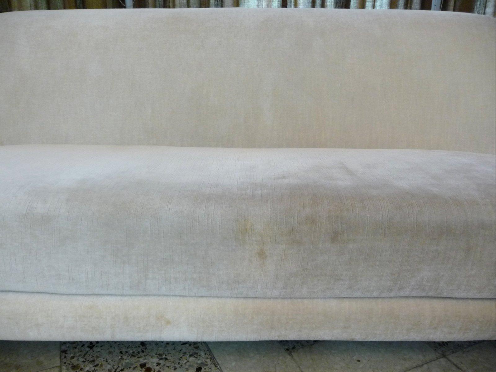 Italian Mohair Velvet Three Seater Sofa 1950s for sale at Pamono