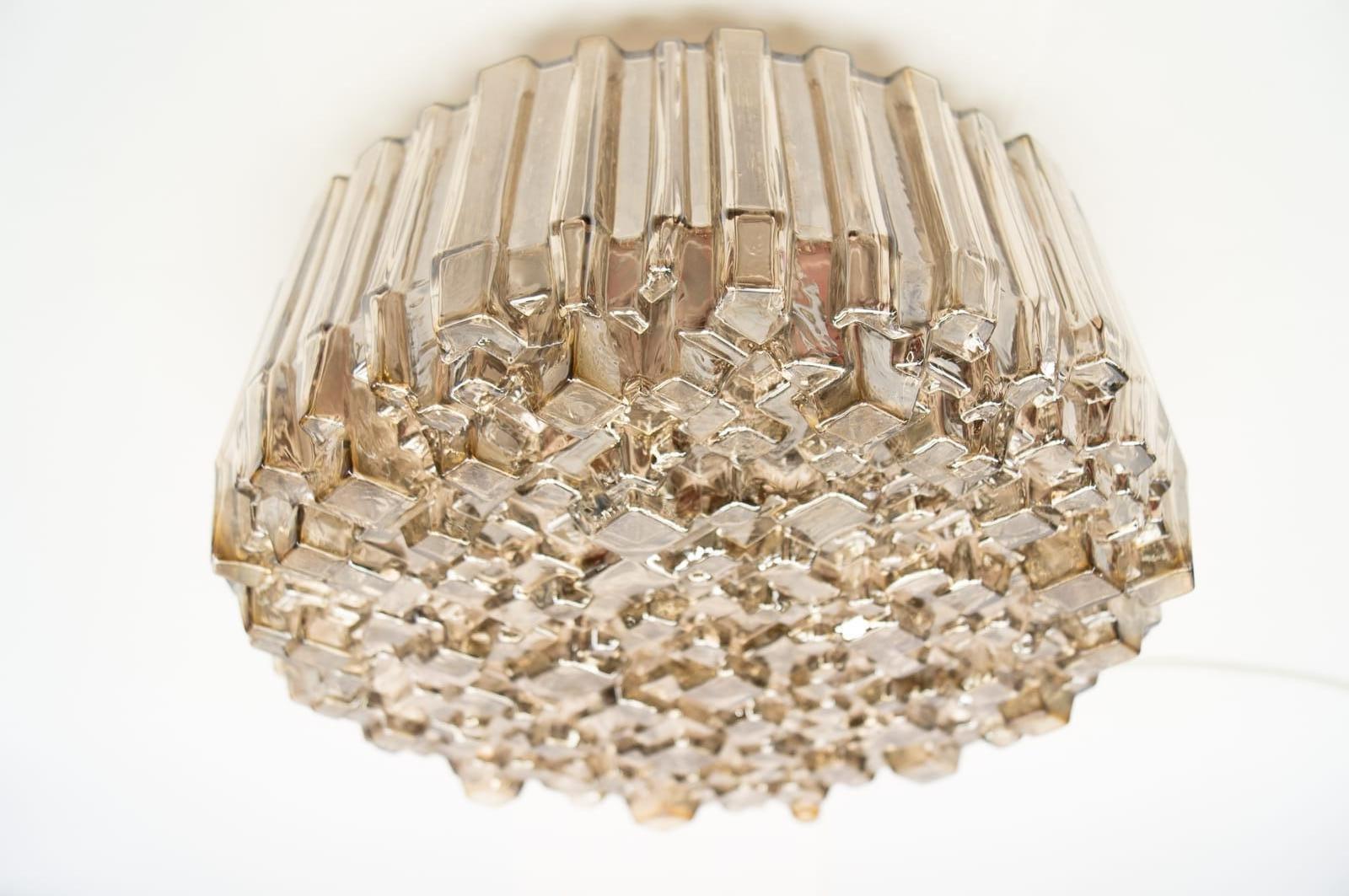 vintage ceiling lighting. Vintage Textured Glass Wall Or Ceiling Light 1960s Set Of 3 Lighting