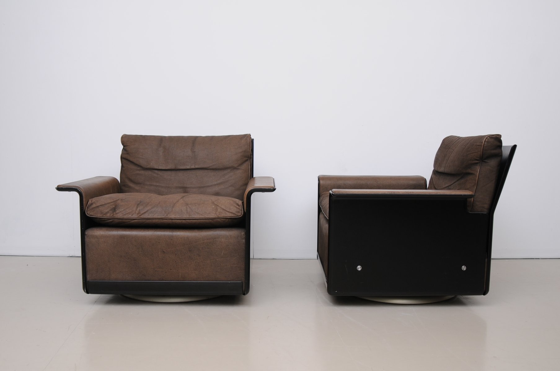 Easy chair recliner - Model 620 Brown Leather Easy Chair By Dieter Rams For Vitsoe