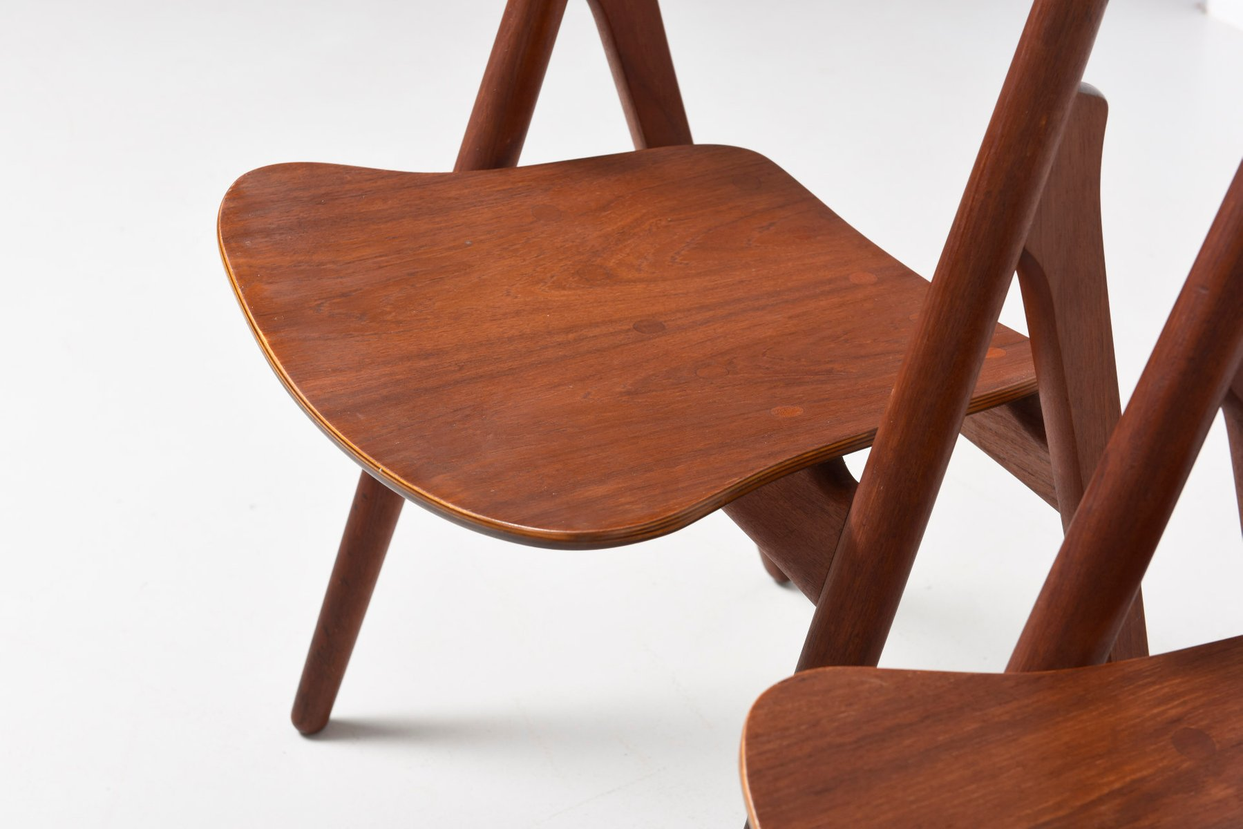 Mid Century CH29 Sawbuck Dining Chairs by Hans J Wegner for Carl