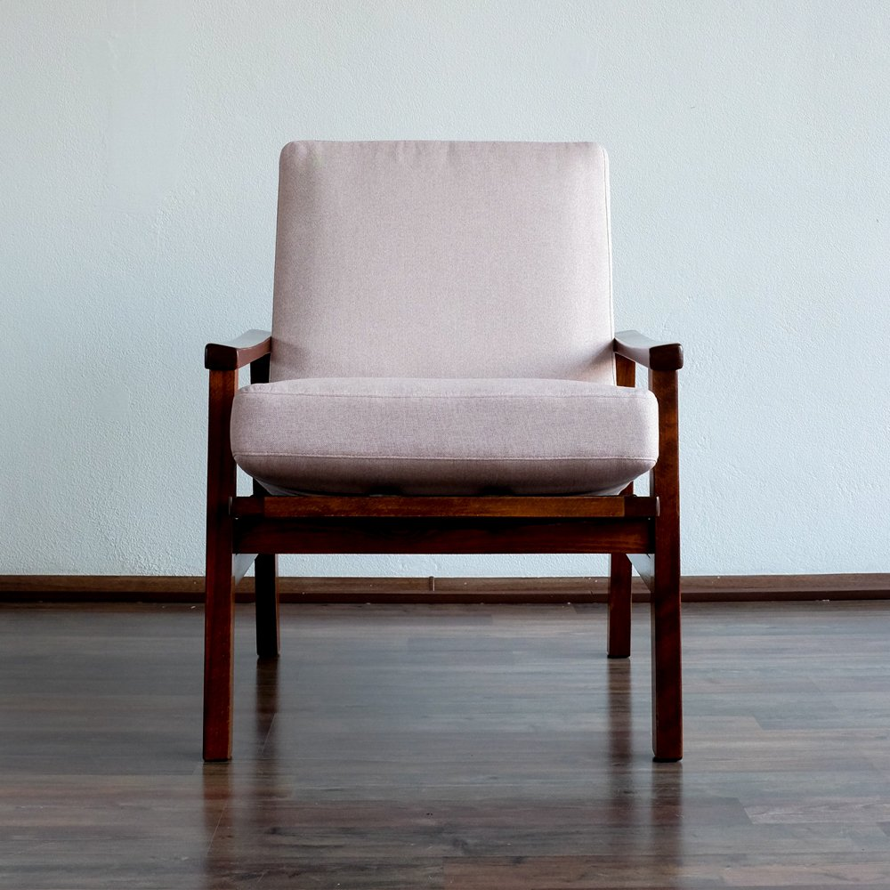 Vintage Soft Pink Armchair From TON, 1960s