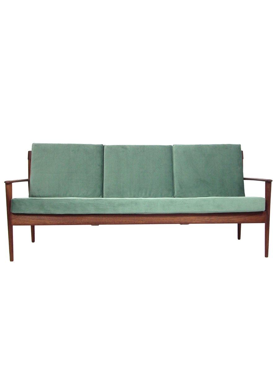 Mid Century Three Seater Teak Sofa For Sale At Pamono