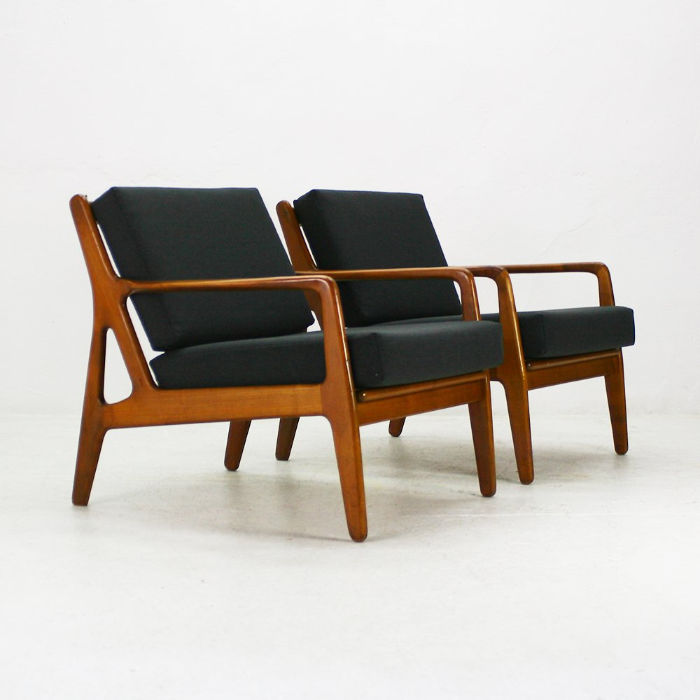 Mid Century Walnut Easy Chair 1960s For Sale At Pamono