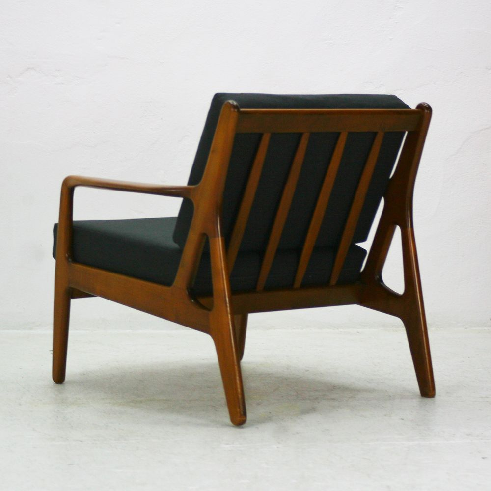 Mid century walnut easy chair 1960s for sale at pamono for Z chair mid century