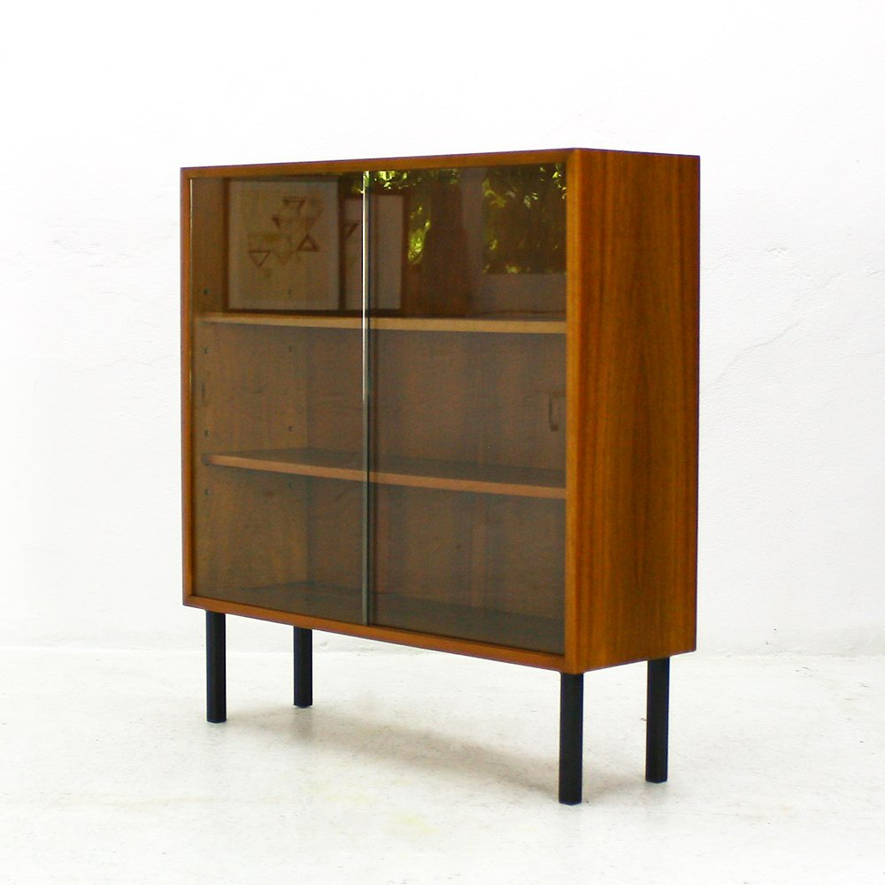 mid century walnut display case from wk m bel 1960s for sale at pamono. Black Bedroom Furniture Sets. Home Design Ideas