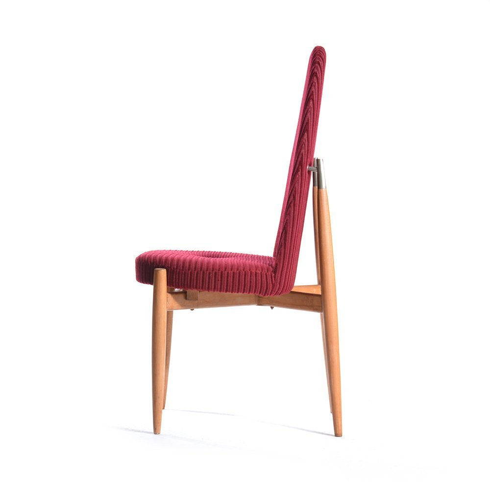 hohe slowakische st hle 1970er 4er set bei pamono kaufen. Black Bedroom Furniture Sets. Home Design Ideas
