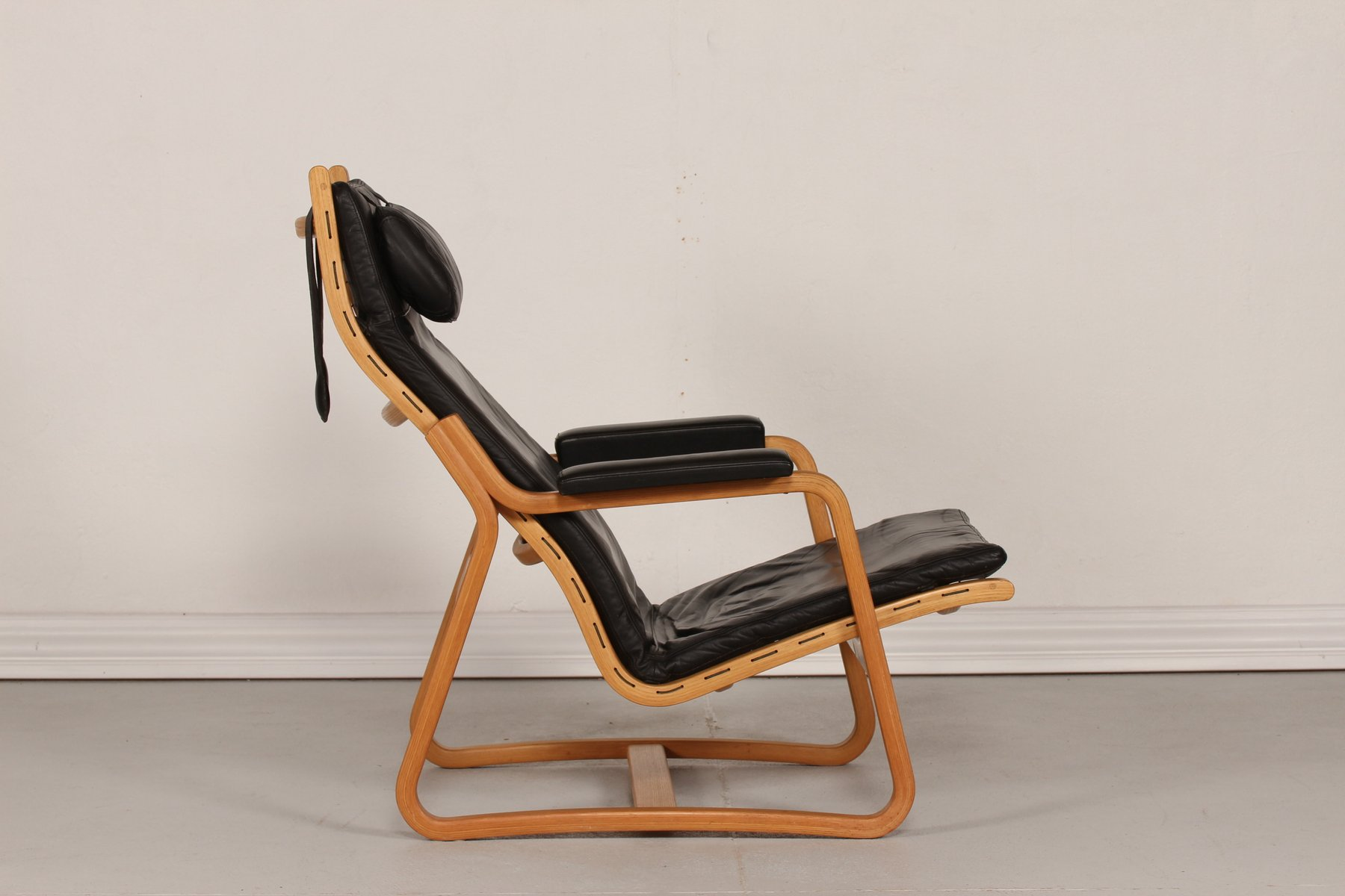 Mid Century Danish Black Leather Chair by Ditte & Adrian Heath for