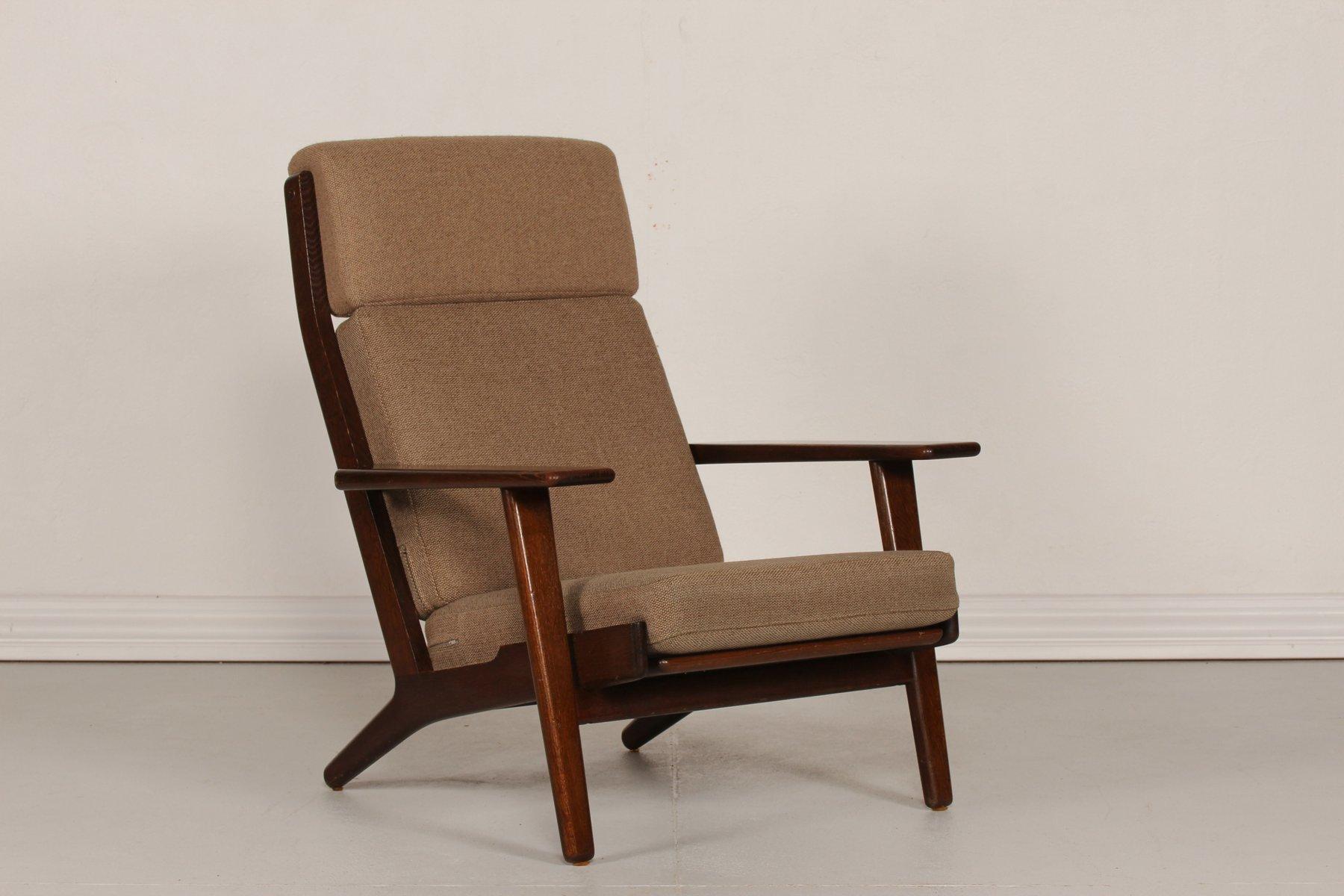 GE 290 High-Back Oak Chair by Hans J. Wegner for Getama, 1970s