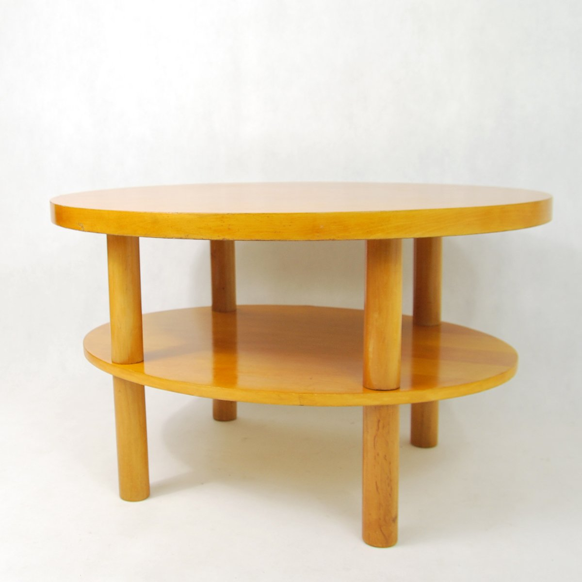 Polish Elliptical Coffee Table 1980s For Sale At Pamono