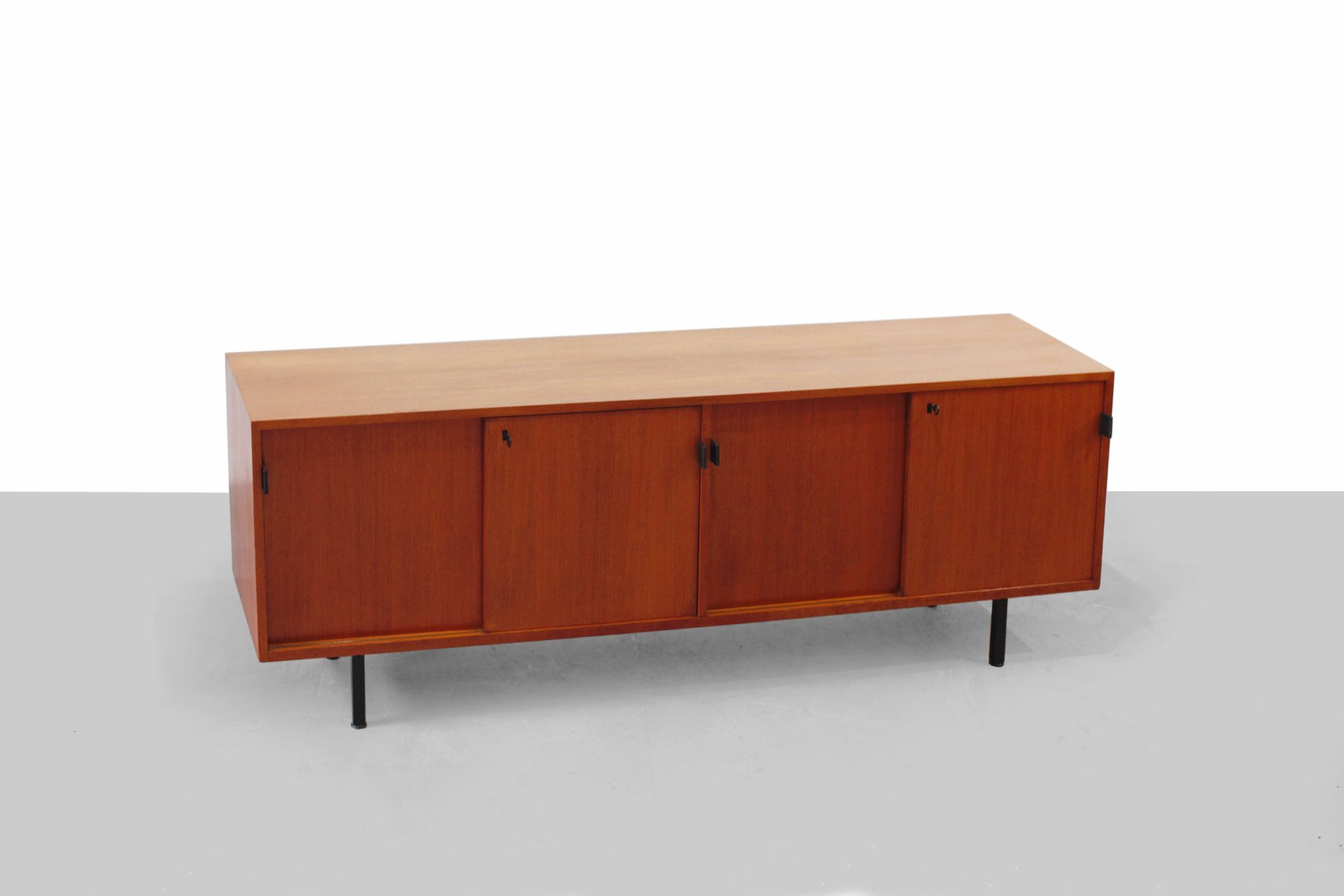 Teak sideboard by florence knoll for knoll 1950s for sale for 1950 s credenza