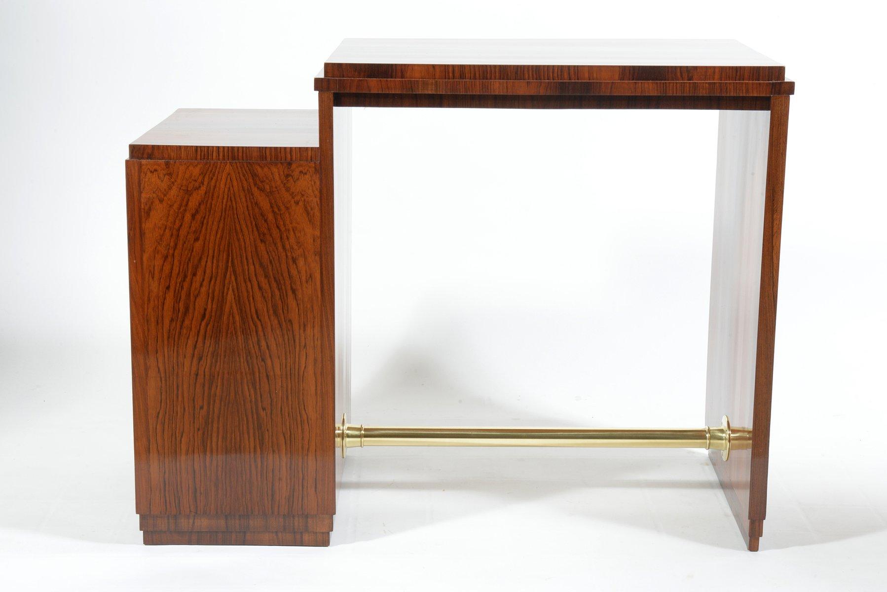 italienischer art deco schreibtisch mit vier schubladen. Black Bedroom Furniture Sets. Home Design Ideas