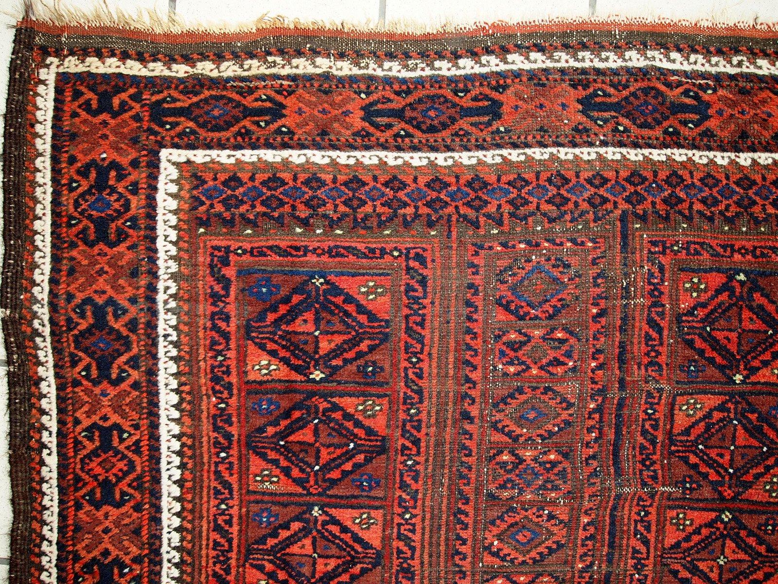 tapis baluch antique fait main afghanistan 1900s en vente sur pamono. Black Bedroom Furniture Sets. Home Design Ideas