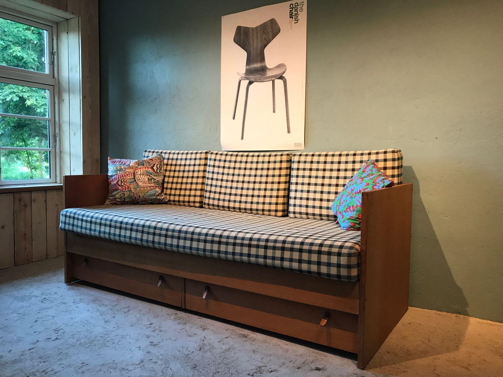 Vintage Danish Sofa Bed by B¸rge Mogensen for S¸borg M¸belfabrik