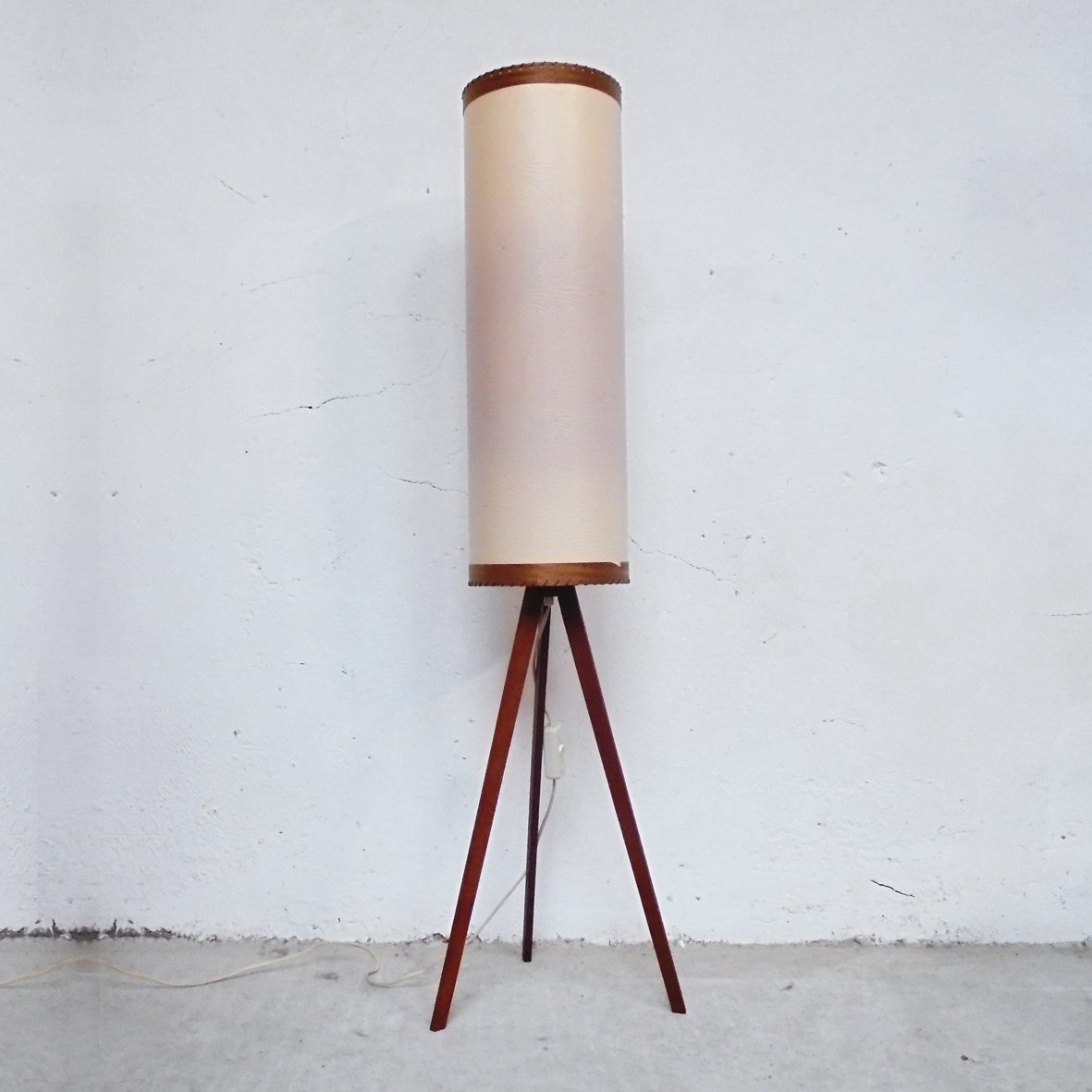 Small Vintage Scandinavian Tripod Floor Lamp 1950s For