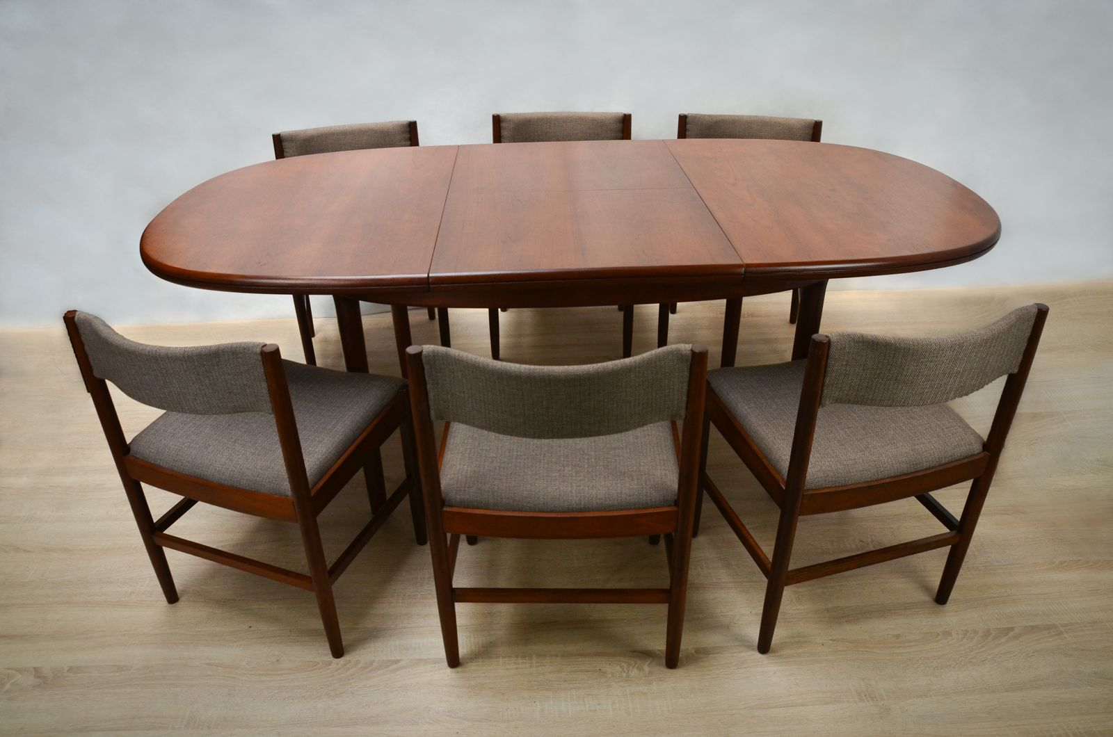 Danish Teak Dining Table With 6 Chairs 1960s Set Of 7