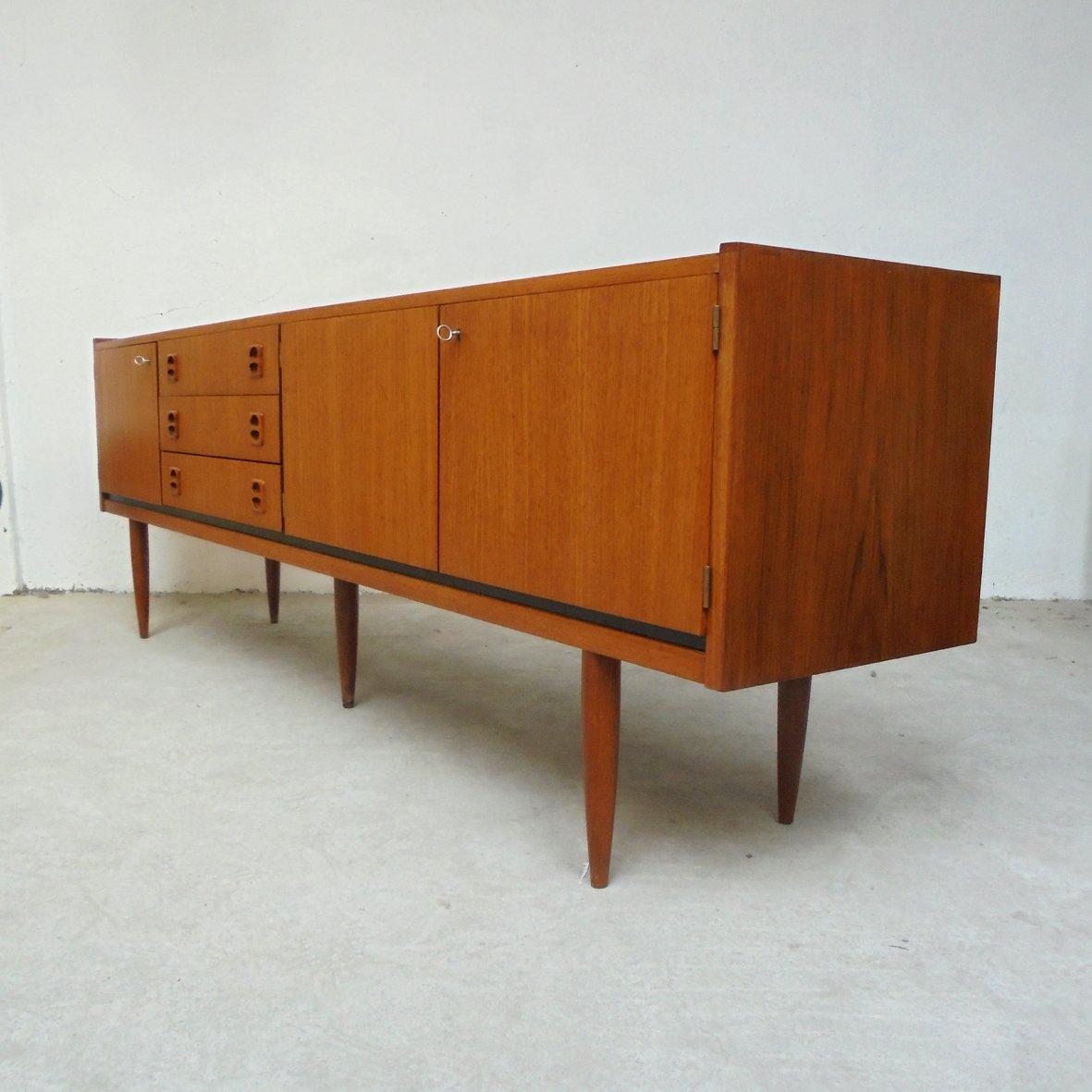 langes franz sisches vintage sideboard 1960er bei pamono. Black Bedroom Furniture Sets. Home Design Ideas