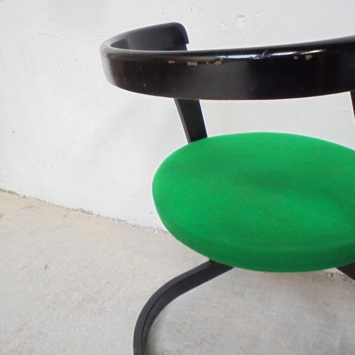 gr ner vintage stuhl bei pamono kaufen. Black Bedroom Furniture Sets. Home Design Ideas