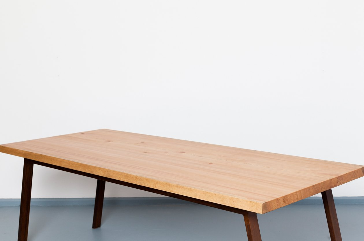 Valkenburg recycled lumber steel table from johanenlies for Recycled decking boards
