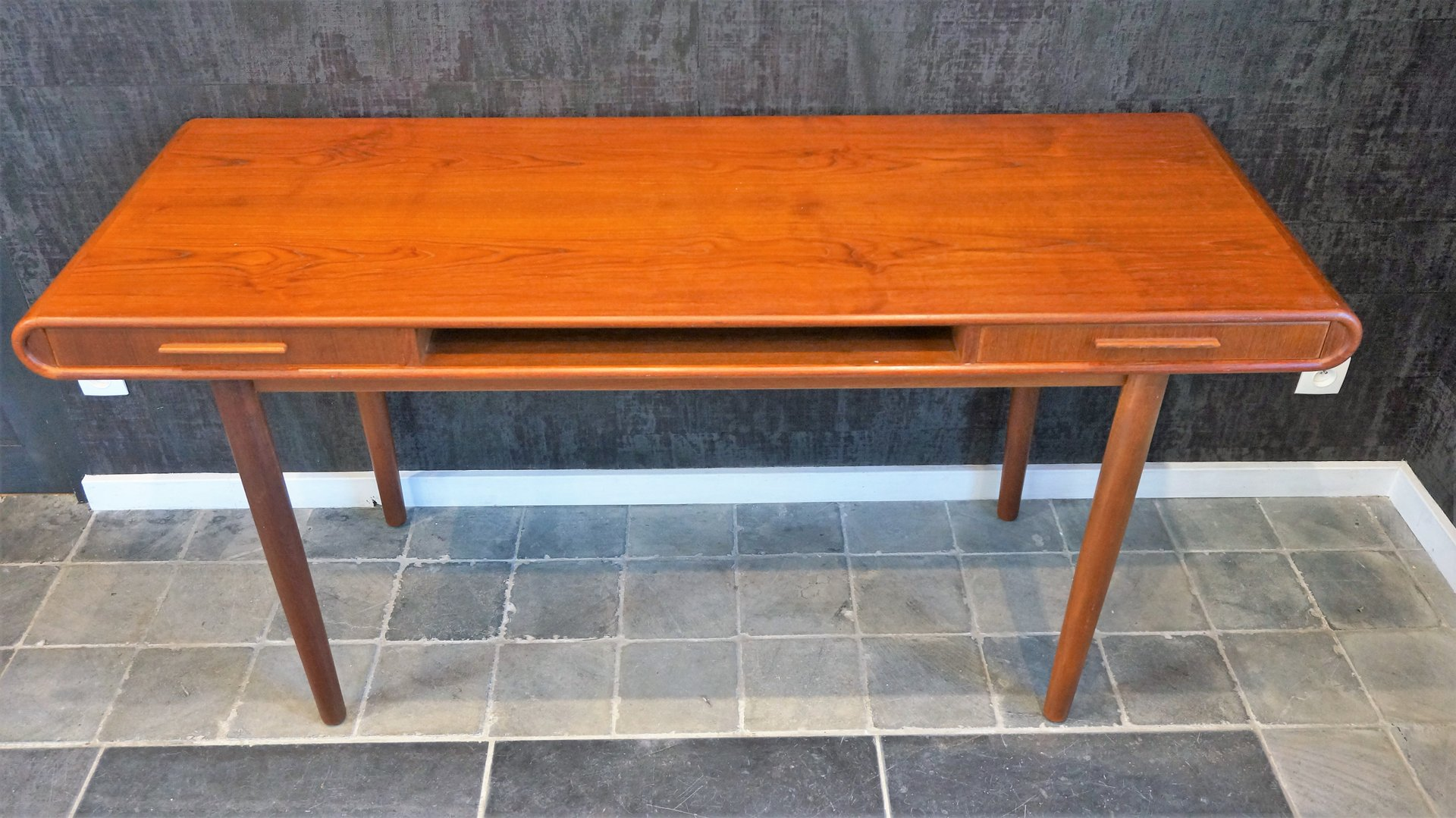 Vintage scandinavian teak console table for sale at pamono vintage scandinavian teak console table 4 261400 price per piece geotapseo Image collections