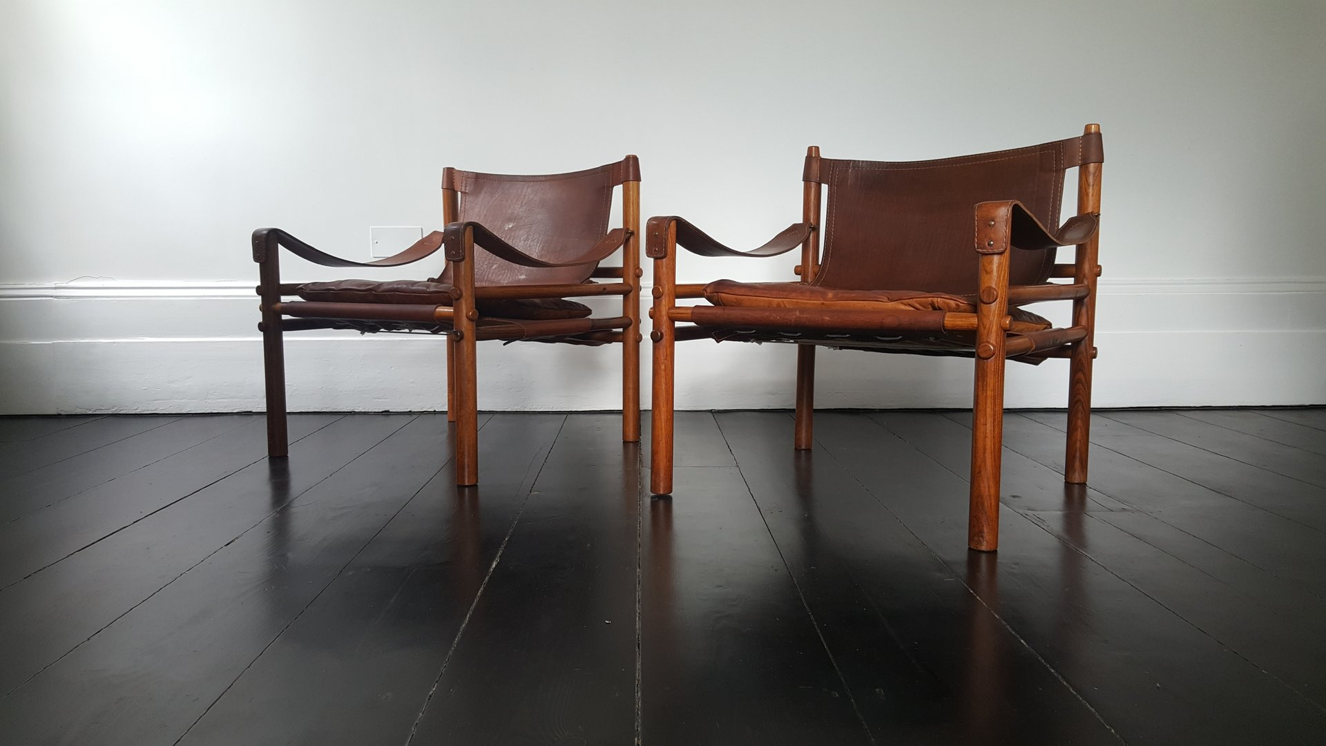 vintage leder palisander sirocco sessel von arne norell. Black Bedroom Furniture Sets. Home Design Ideas