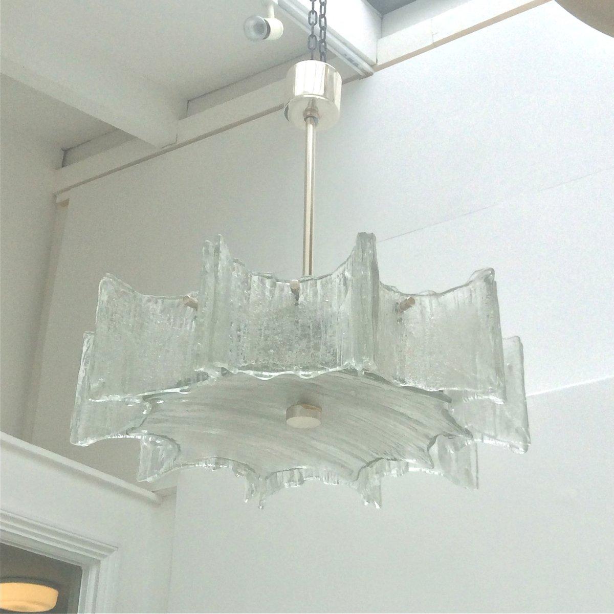 vintage texturglas h ngelampe von kaiser leuchten bei. Black Bedroom Furniture Sets. Home Design Ideas