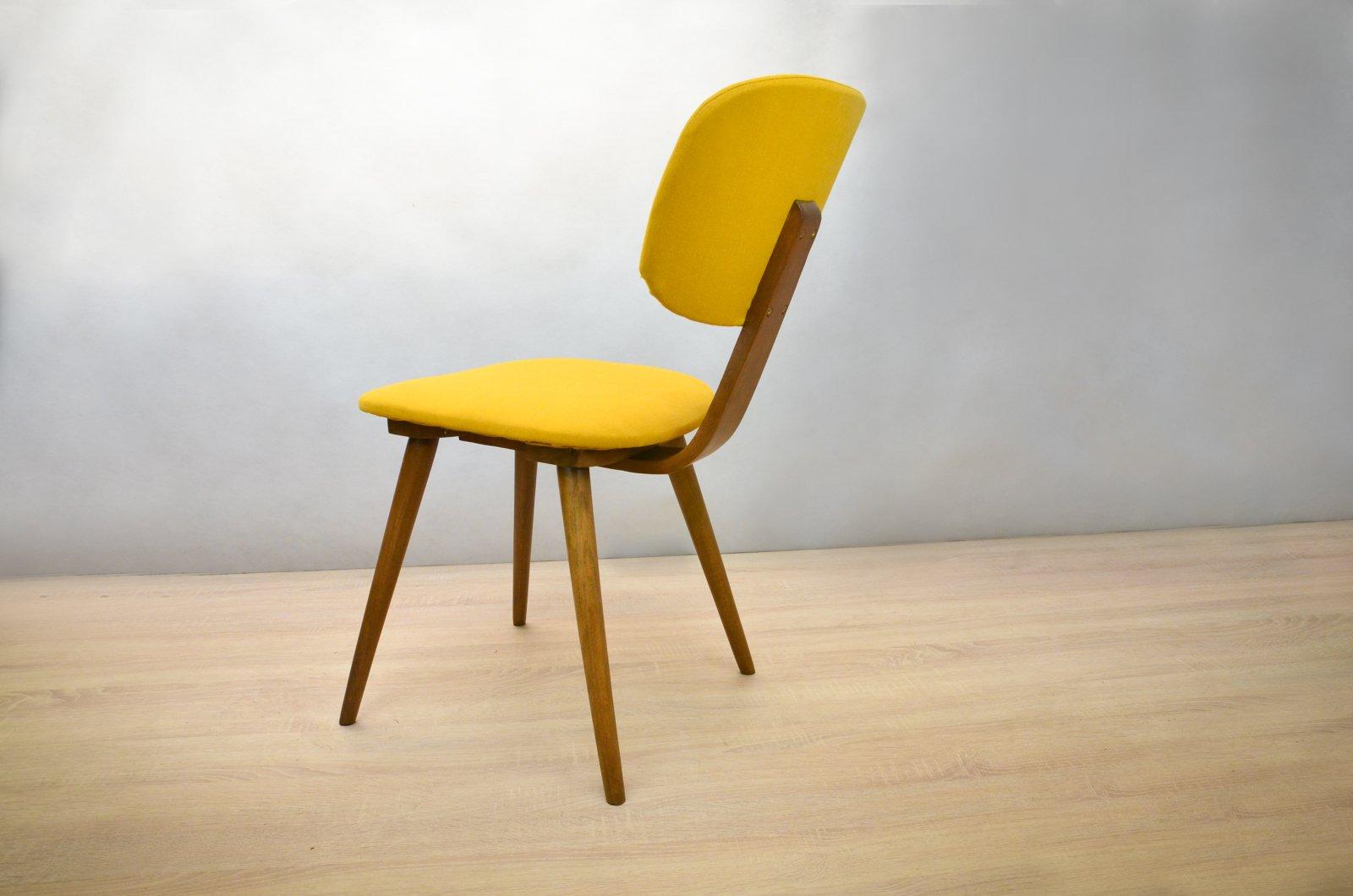 gelbe fameg 5827 st hle 1950er 2er set bei pamono kaufen. Black Bedroom Furniture Sets. Home Design Ideas