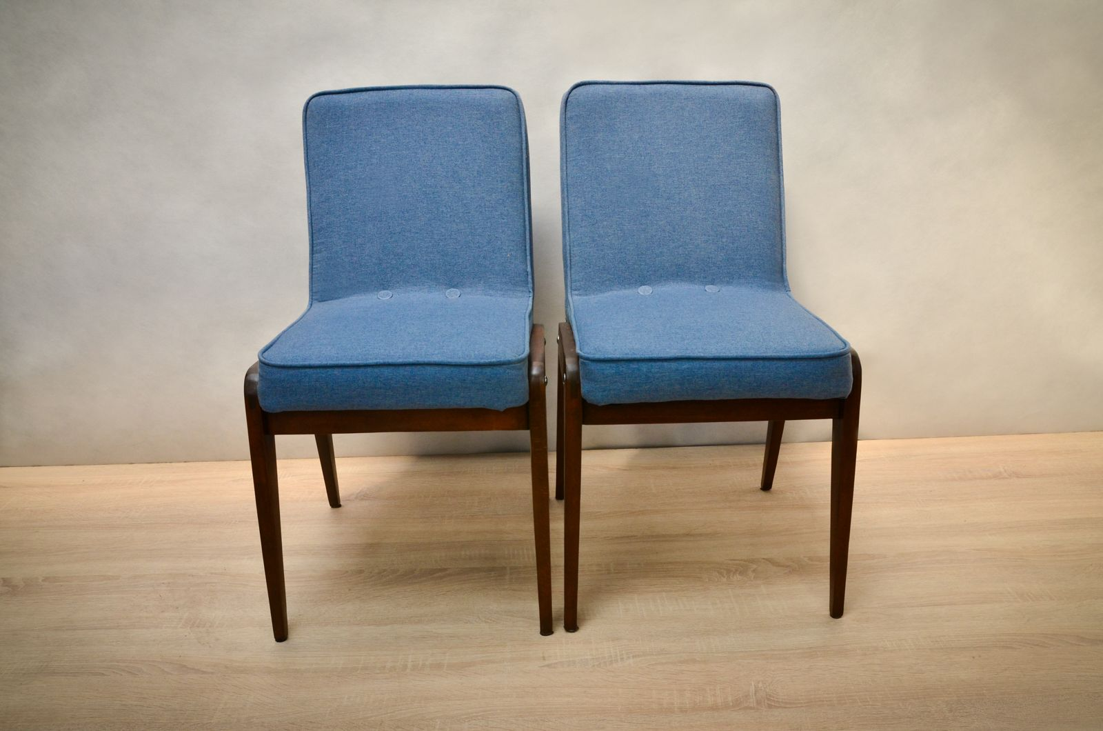 Light blue dining chairs - Aga Light Blue Dining Chairs By J Zef Marian Chierowski S