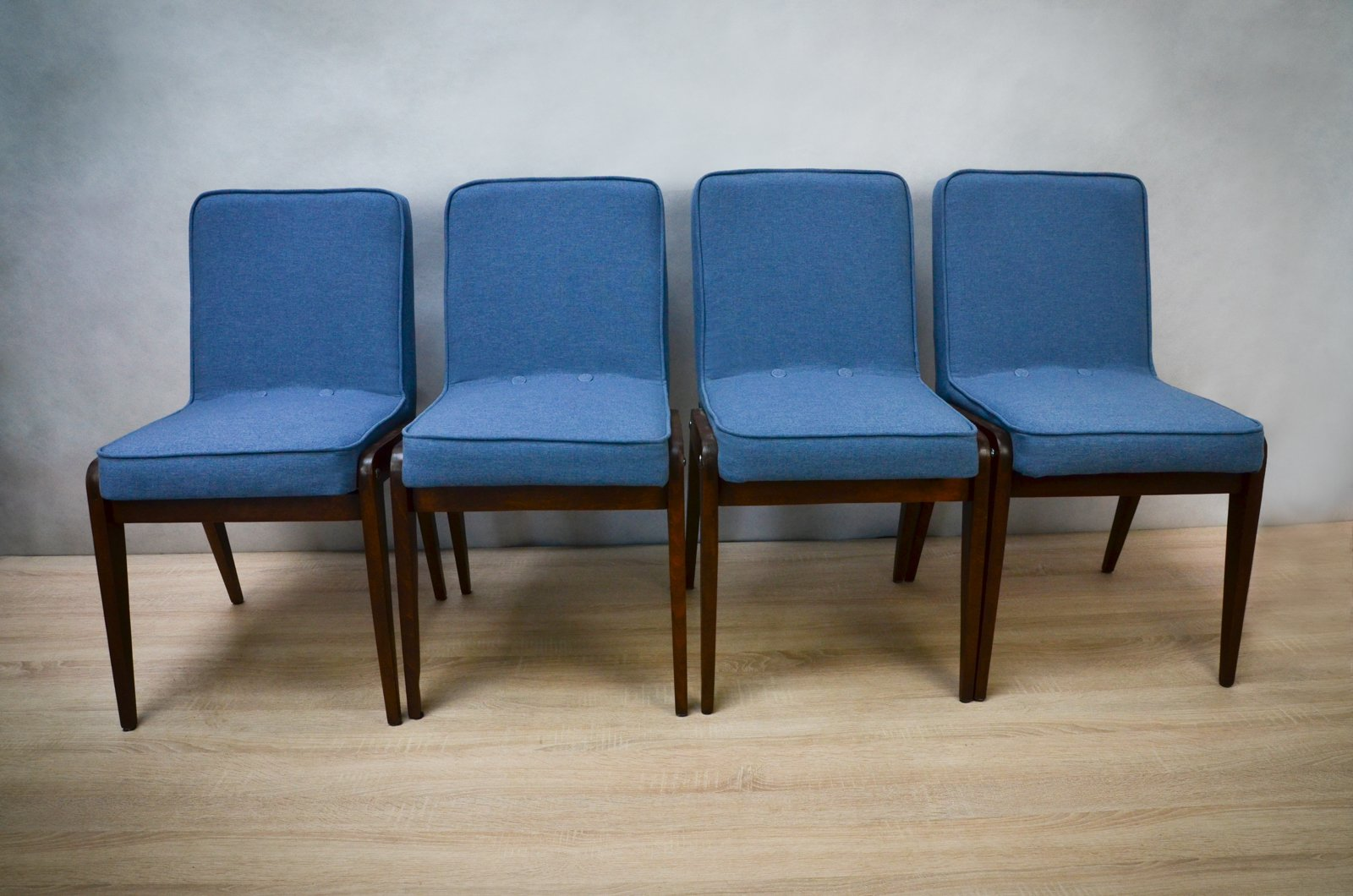 Light blue dining chairs - Aga Light Blue Dining Chairs By J Zef Marian Chierowski 1960s Set Of 4 For Sale At Pamono