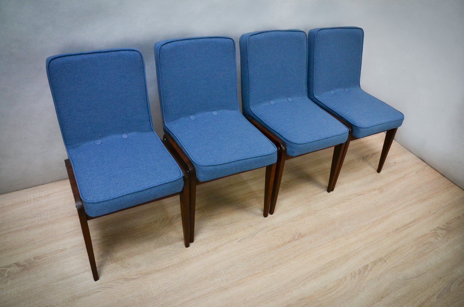 aga light blue dining chairs by józef marian chierowski s  - aga light blue dining chairs by józef marian chierowski s set of