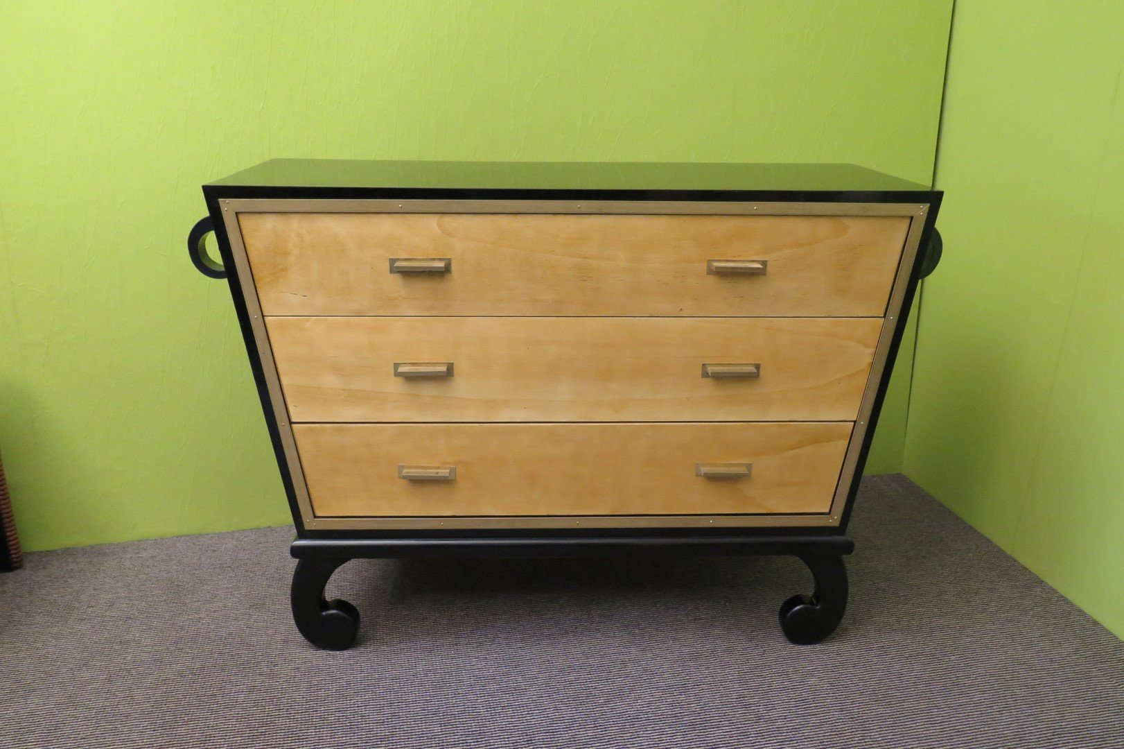 italian art deco commode 1940s for sale at pamono. Black Bedroom Furniture Sets. Home Design Ideas
