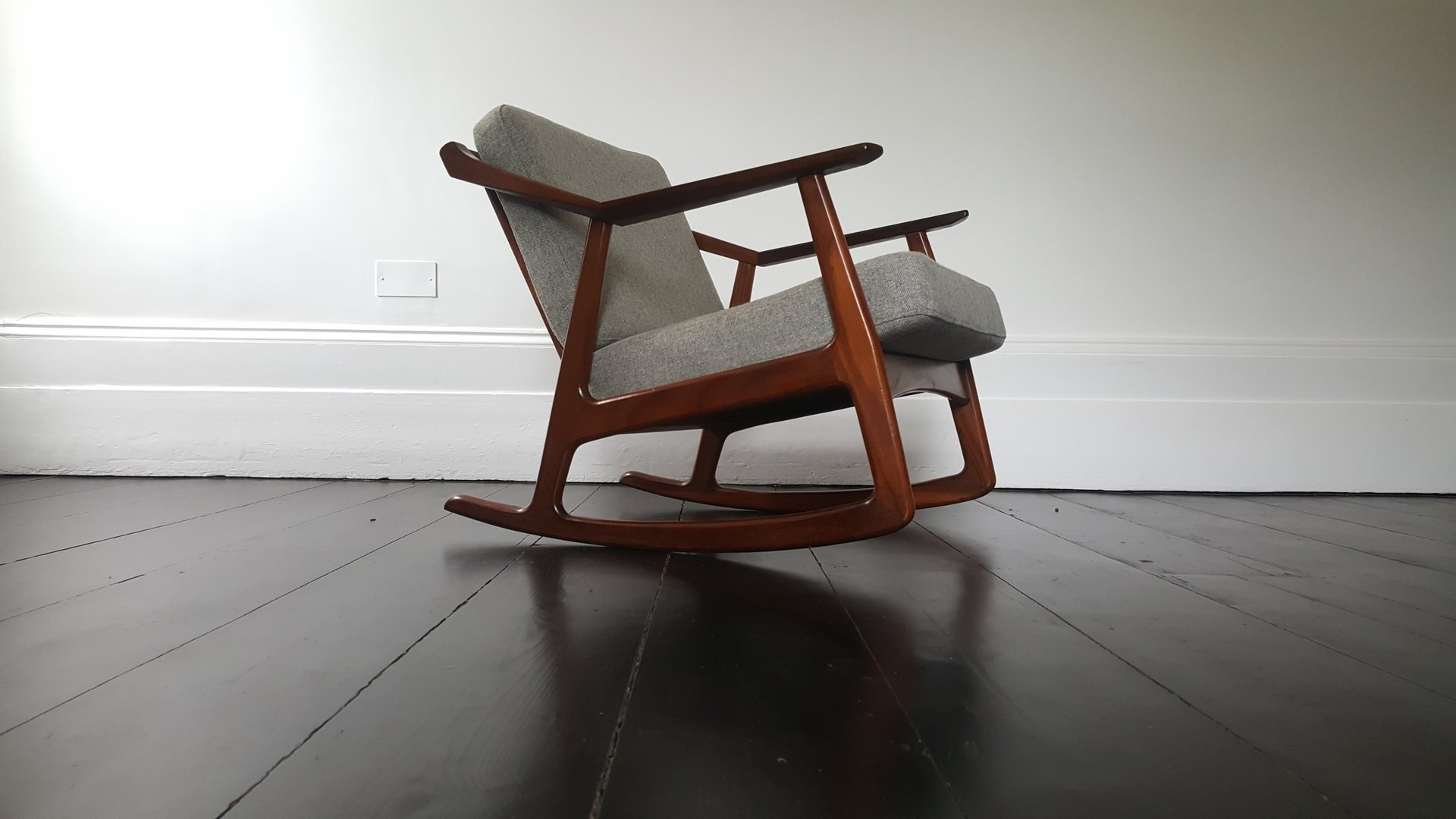 Mid Century Rocking Chair by H Brockmann Petersen 1960s for sale