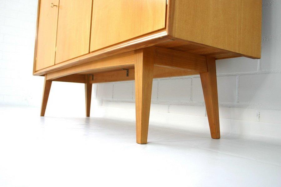 mid century geschirrschrank aus ulmenholz von wk m bel. Black Bedroom Furniture Sets. Home Design Ideas
