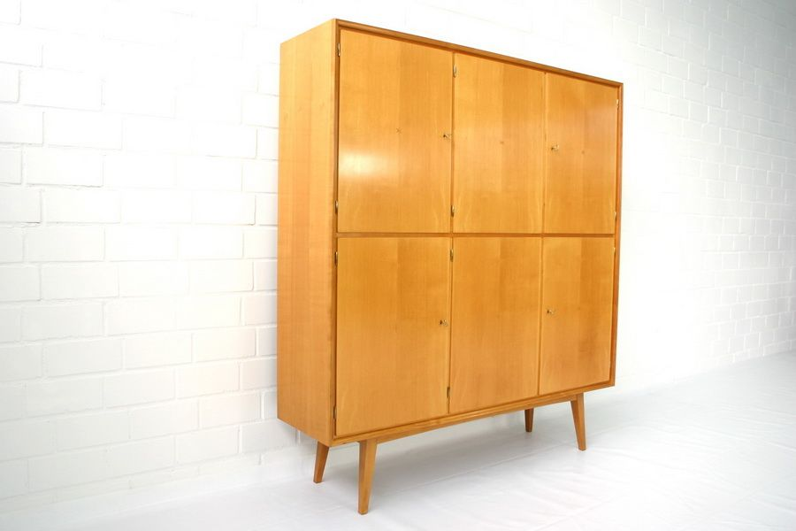 mid century geschirrschrank aus ulmenholz von wk m bel. Black Bedroom Furniture Sets. Home Design Ideas
