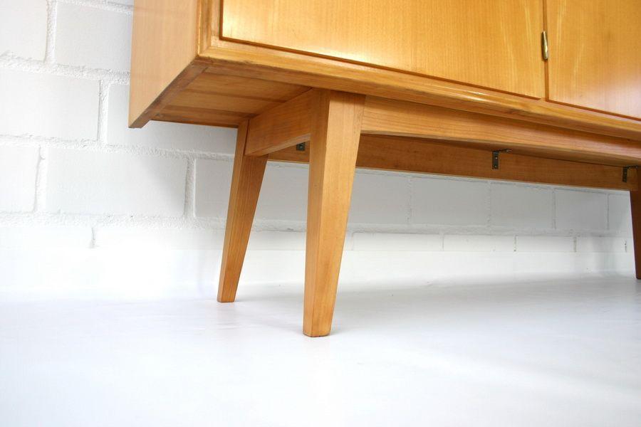 mid century elm higboard credenza from wk m bel 1970s for sale at pamono. Black Bedroom Furniture Sets. Home Design Ideas