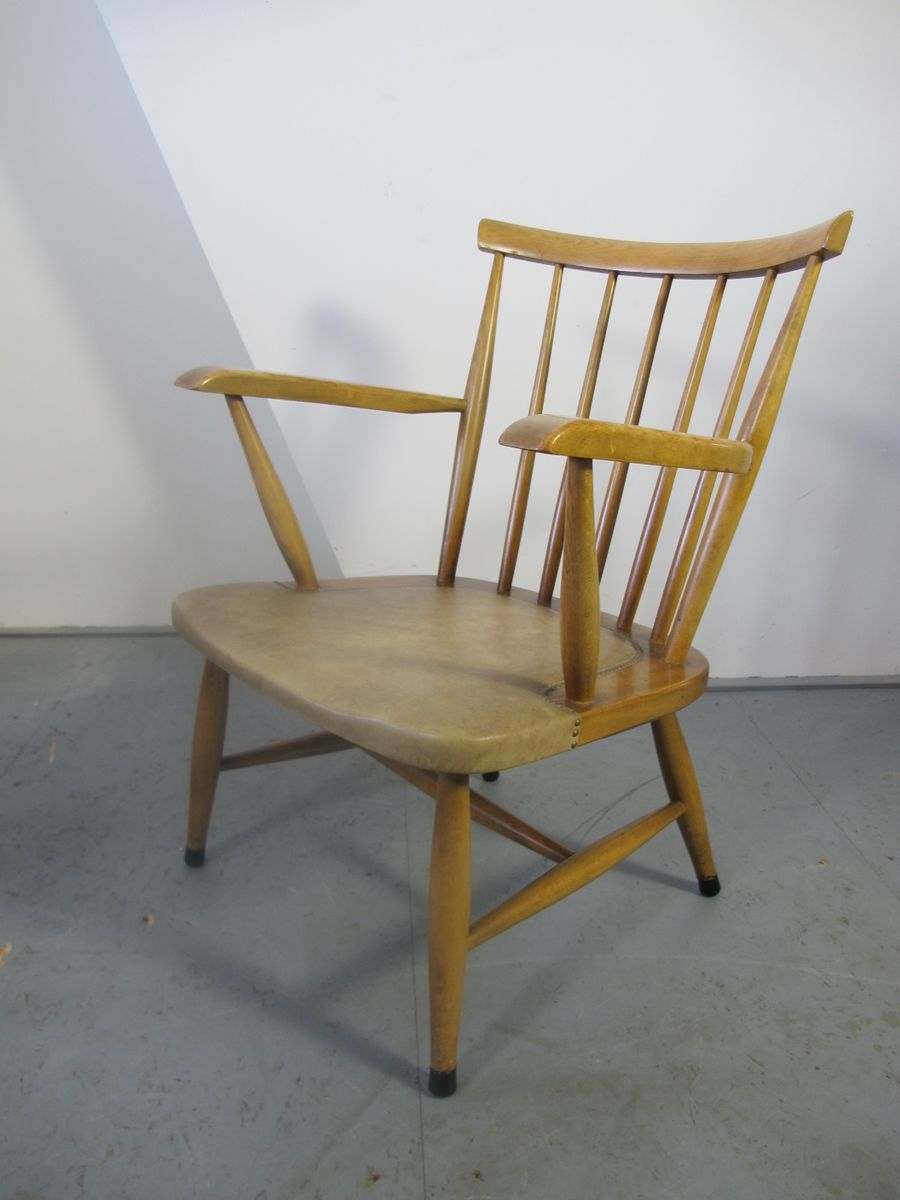 Vintage scandinavian spindle back easy chair for sale at for Easy chair designs