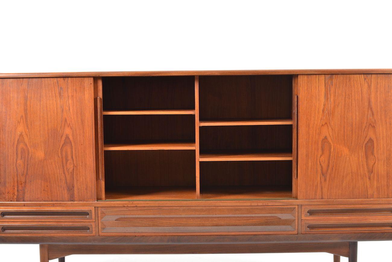 d nisches mid century teak sideboard mit 4 schiebet ren. Black Bedroom Furniture Sets. Home Design Ideas
